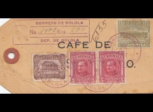 Guatemala: 1934: Solola sample Cafe to Freiburg