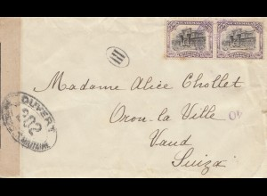 Guatemala: 1911 letter to Vaud-Switzerland, opend by censor
