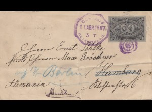 Guatemala: 1897: Retalhuleu to Hamburg, forwarded to Berlin