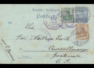 Guatemala: 1903: Germany Post Card Kempen to Guatemala