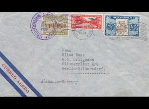 Guatemala: 1938: air mail to Berlin