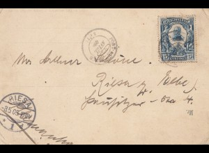 Haiti: 1905 post card Port au Price to Riesa