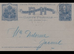 Haiti: 1904: carte postale incl. answer card