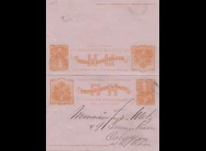 Haiti: 1902: post card with answer card to Köln
