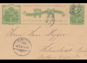 Haiti: 1898: post card to Helmstedt