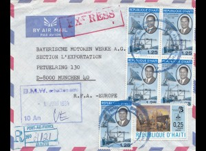 Haiti: 01. Juni 1984: Registered to BMW München