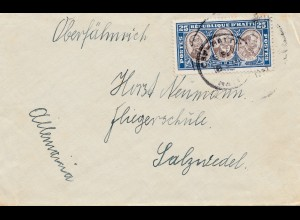 Haiti: letter to Fliegerschule Salzwedel in Germany