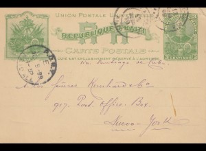 Haiti: 1899 post card to New York