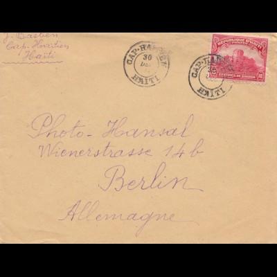 Haiti: 1925: Cap Haitien to Berlin