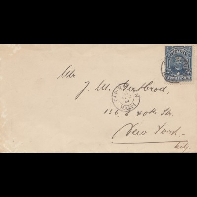 Haiti: 1921: letter to New York City