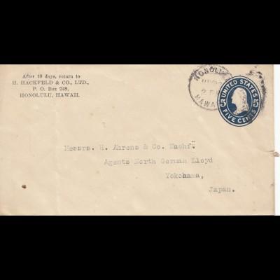 Hawai: 1918: Honolulu to Yokahama, Japan
