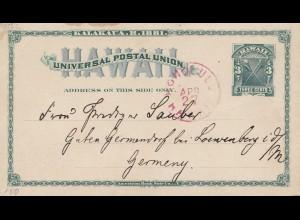 Hawai: 1927: post card Honolulu to Löwenberg