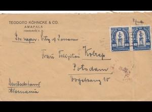 Honduras: 1920: Ampala to Potsdam