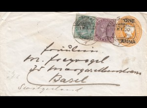 India: 1900 Calcutta, Comptoir national de Paris to Basl/Switzerland