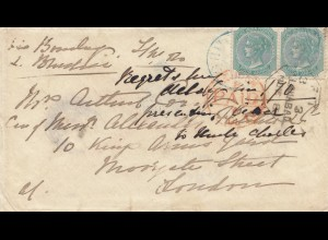 India 1873: Sylhet light Infantry to London, forwarded