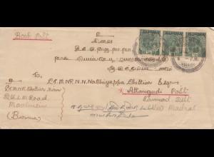 Burma: 1937: Moulmein to Attangudi, book post