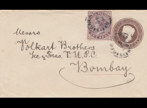 India 1890: small letter to Bombay