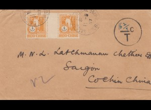 India 1927: letter to Saigon, Taxe