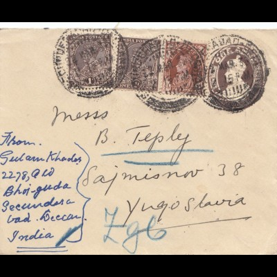 India 1938: letter Secundesa to Yugoslavia