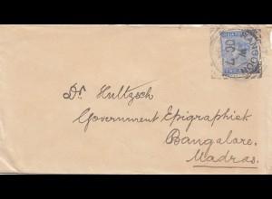 India: Letter Rangoon to Bangalore