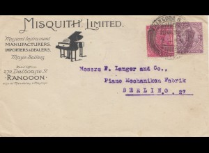 India: 1922 Rangoon to Berlin, Piano, Musical Instruments