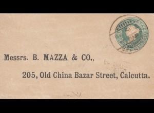 India 1887: small letter to Calcutta