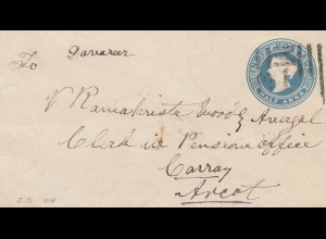 India 1914: small letter to Carray Areot