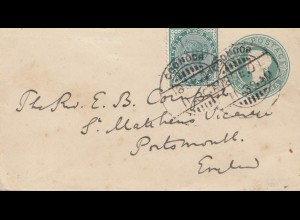 India 1901: Coonoca to Porthmouth/England