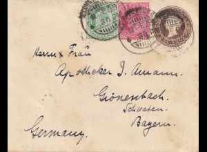 India 1909: letter to Gönenbach/Bayern/Germany