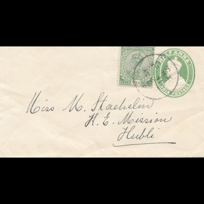 India 1923: small letter to Hubli
