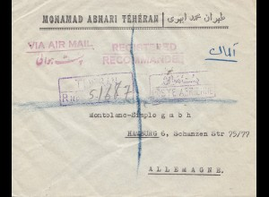 1948: Teheran to Hamburg, registered