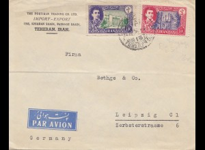 1951 air mail Teheran to Leipzig