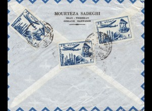 air mail Teheran to Mont Blanc Hamburg