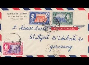 air mail Teheran to Stuttgart
