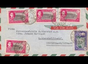 letter Teheran to Waldershof, Porzellanfabrik