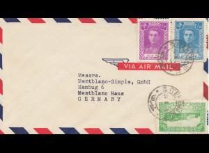 letter Teheran to Mont Blanc Simple, Hamburg