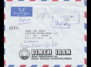 1976: air mail Teheran to BMW