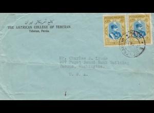 1952 Teheran to Tacoma/Washingon, College