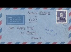 via air mail Kerman to Marburg