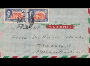 Ramsar to Hamburg, air mail, incl. letter