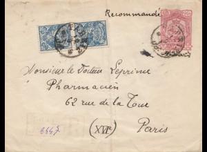 1904: Tarriz registered to Paris