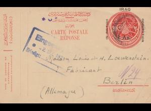 Iraq: 1921: post card Baghdad to Berlin