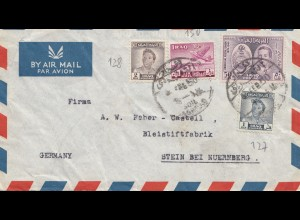 Iraq: 1950 air mail to Bleitstiftfabrik Stein/Nürnberg