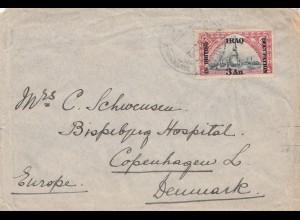 Iraq: 1922 letter to Copenhagen/Denmark