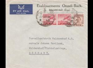 Iraq: air mail Baghdad to Waldershof