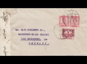 Iraq: 1949 Mosul to Reideburg, censor