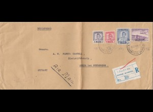 Iraq: 1950 Registered Baghdad to Stein, Bleistift Fabrik