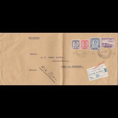 Iraq: 1950 Registered Baghdad to Stein, Bleistift Fabrik