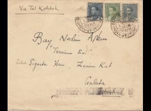 Iraq: 1937 Baghdad to Galata/Istanbul via Tel Kotchek