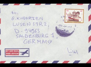 Iraq: 1998 air mail Baghdad to Saldenburg